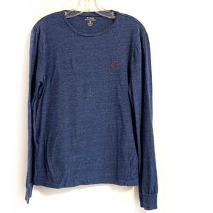 4/$20 POLO by RALPH LAUREN Blue Embroidered Tee